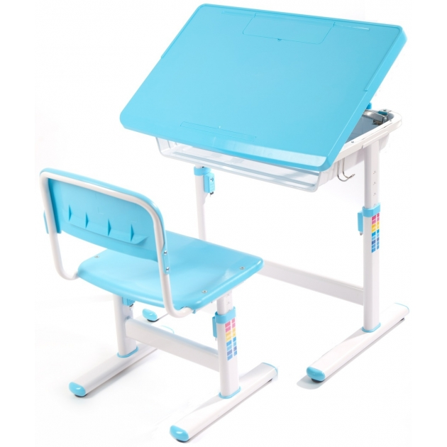 Парта и стул трансформер EVOLIFE Minimax (ЭвоЛайф Минимакс) Синий
