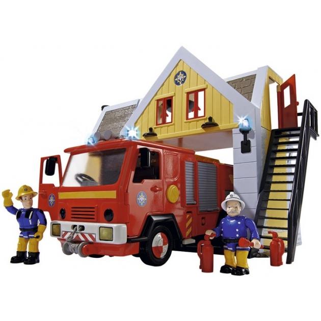 Игровой набор SimbaПожарный Сэм Пожарная станция со звуком и светом 9251062