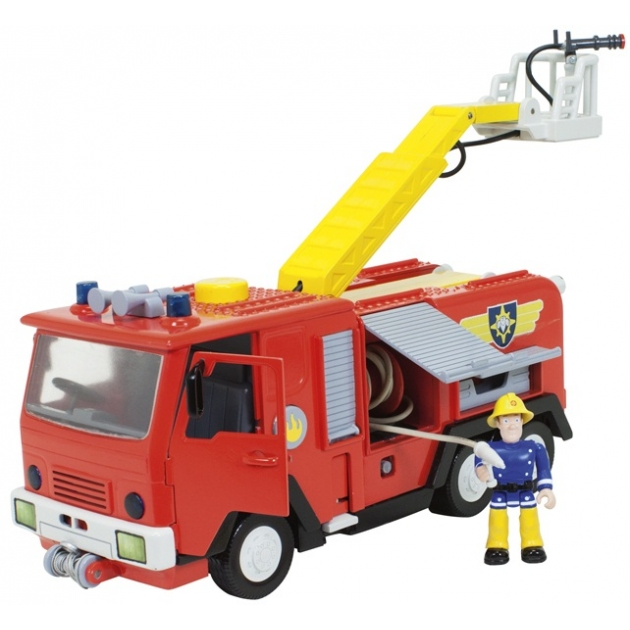 Игрушка Пожарный Сэм Машина со звуком светом и функцией воды 9251063