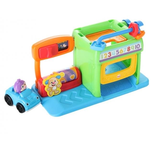 Обучающая игрушка Fisher Price Смейся и учись гараж ученого щенка DHN79