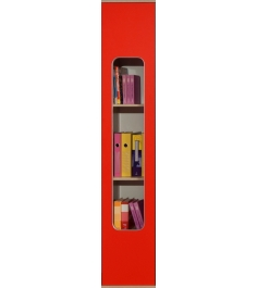 Детский шкаф для книг Глазов мебель Автобус 7 (красный)