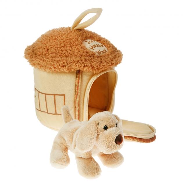 Мягкая игрушка домик сумка с собачкой 15 см 21 912050 1