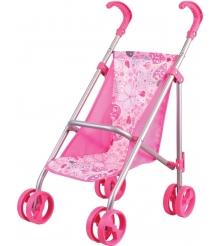 Коляска для кукол Gulliver Классическая розовая 22-11005
