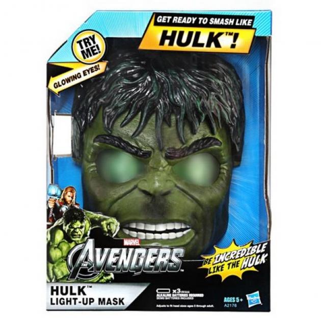 Детский шлем Marvel Халка со светящимися глазами Hasbro Хасбро A2176H