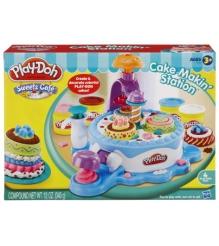 Детский пластилин play doh игровой набор фабрика тортиков hasbro хасбро 24373h...