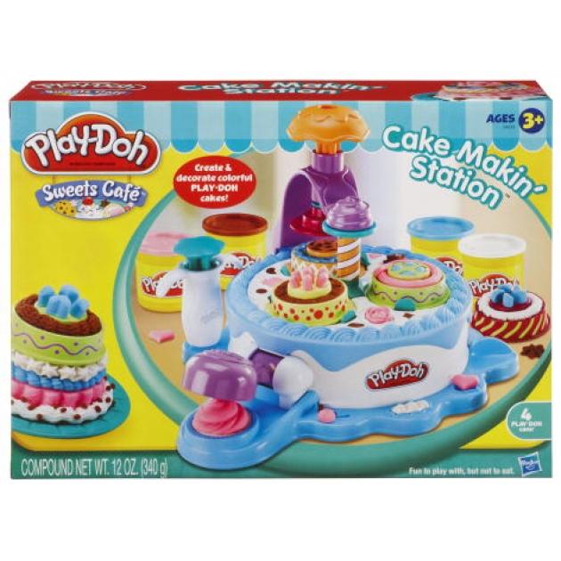 Детский пластилин play doh игровой набор фабрика тортиков hasbro хасбро 24373h