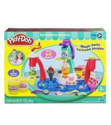 Детский пластилин play doh плей до игровой набор фабрика мороженого hasbro хасбр...