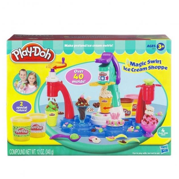 Детский пластилин play doh плей до игровой набор фабрика мороженого hasbro хасбро 32917h