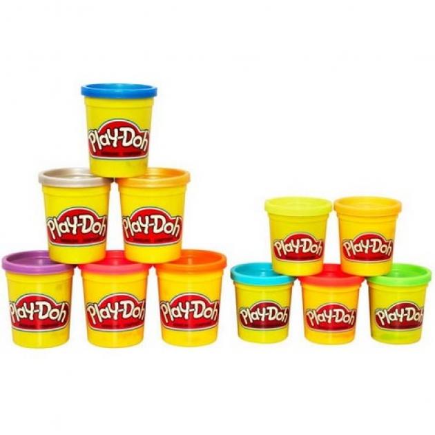 Детский пластилин play doh пластилин: набор из металлических и неоновых цветов hasbro a37058h