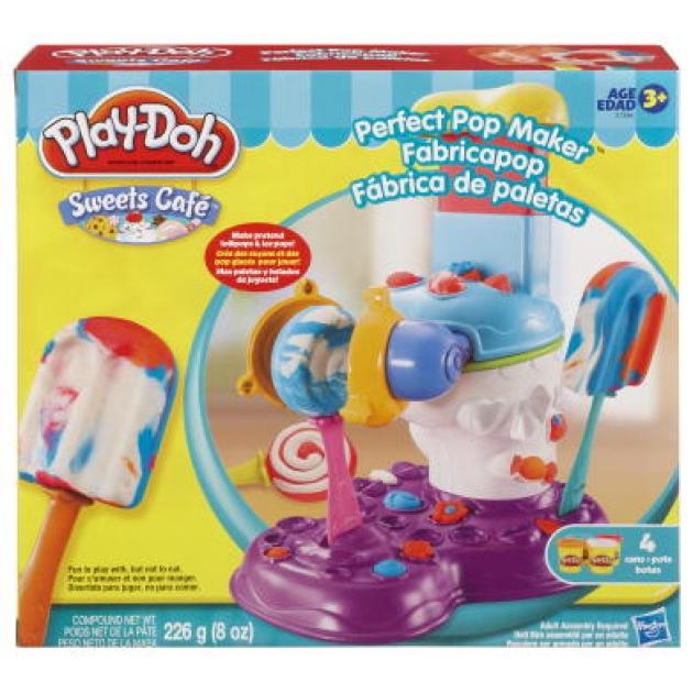 Детский пластилин play doh набор пластилина потрясающая фабрика сладостей 37396h