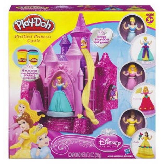 Детский пластилин play doh игровой набор пластилина замок принцессы hasbro a38133h