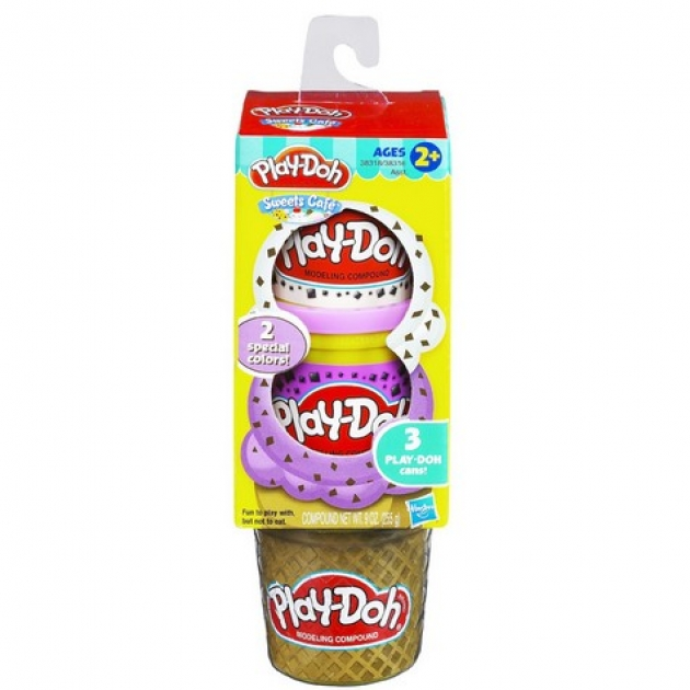 Детский пластилин play doh набор пластилина для десертов hasbro хасбро 38316h