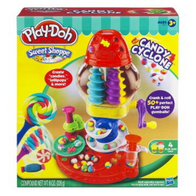 Детский пластилин play doh игровой набор пластилина фабрика конфет 39640