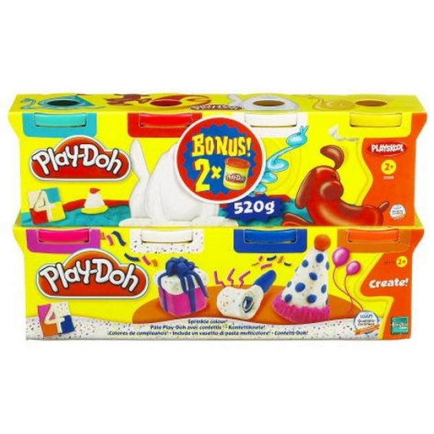 Детский пластилин play doh пластилин: 6+2 hasbro хасбро a90734h