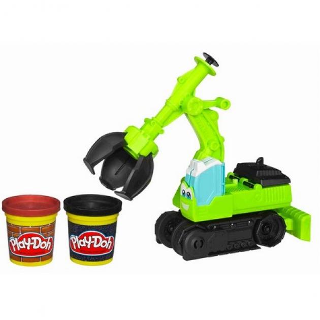 Детский пластилин play doh набор экскаватор hasbro хасбро a0319h