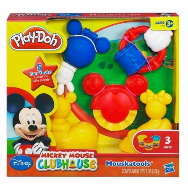 Детский пластилин play doh набор инструменты микки мауса hasbro хасбро a0556h