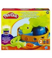 Детский пластилин play doh плей до игровой набор забавная черепашка hasbro хасбр...