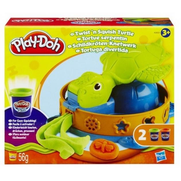 Детский пластилин play doh плей до игровой набор забавная черепашка hasbro хасбро A0653E24