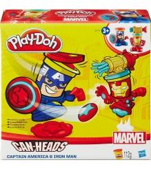 Игровой набор пластилина Hasbro Play Doh фигурки герои Марвел Железный Человек и...