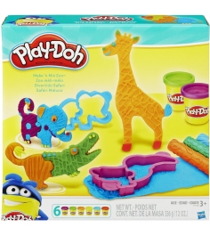Игровой набор пластилина Hasbro Play Doh Веселое Сафари B1168...