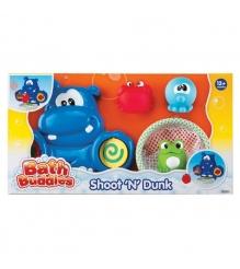 Игрушка для ванной Keenway бегемот, корзинка, 3 игрушки