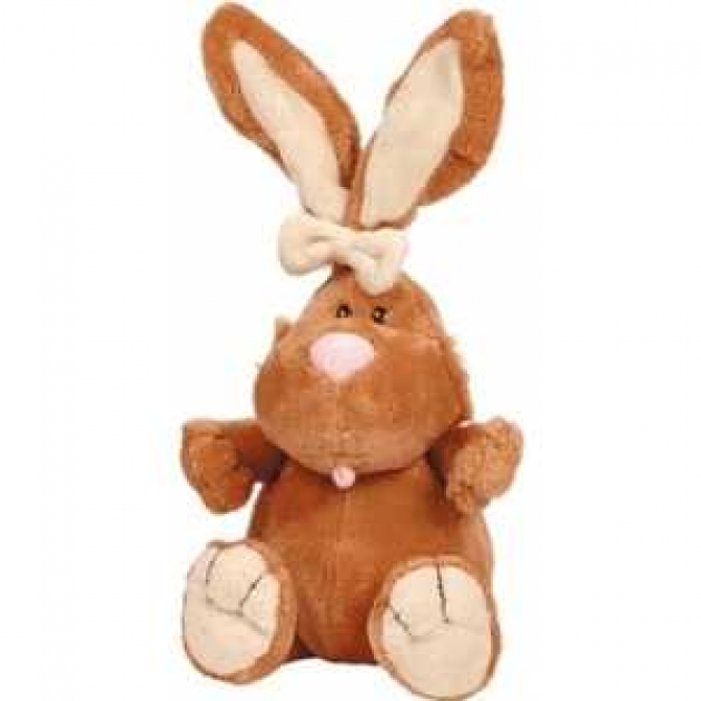 Мягкая игрушка кролик коричневый сидячий 40 см 7 42045