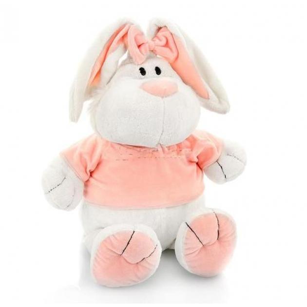 Мягкая игрушка кролик белый сидячий 40 см 7 42229