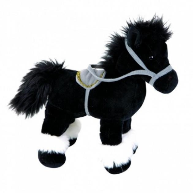 Мягкая игрушка лошадка стоячая черная 20 см 21 920961 3