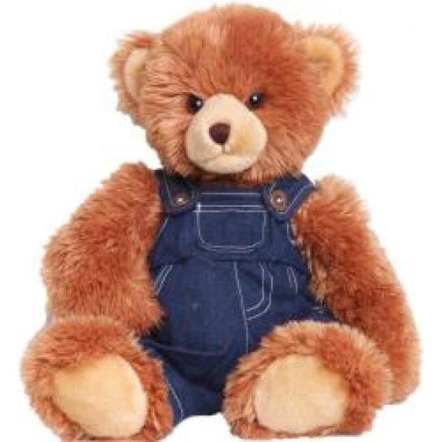 Мягкая игрушка мишка в джинсовом комбинезоне 45 см 18 3105d 2