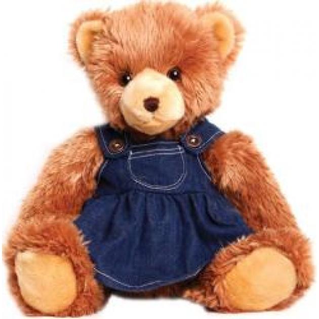 Мягкая игрушка мишка в джинсовом платье 45 см 18 3105d 4