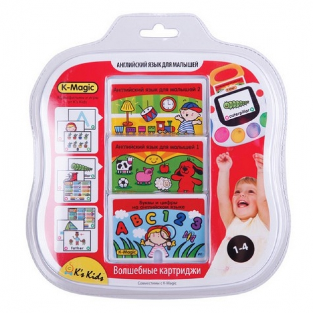 Набор картриджей K-Magic Английский язык для малышей K's kids (Арт. KA565)