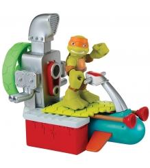 Фигурка Черепашки ниндзя Half Shell Hero Майки с гидроциклом 6 см 96703...