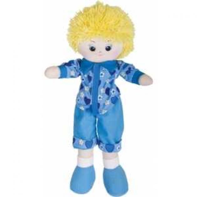 Мягкая игрушка кукла мальчик в голубой рубашке блондин 40 см 30 11bac3501