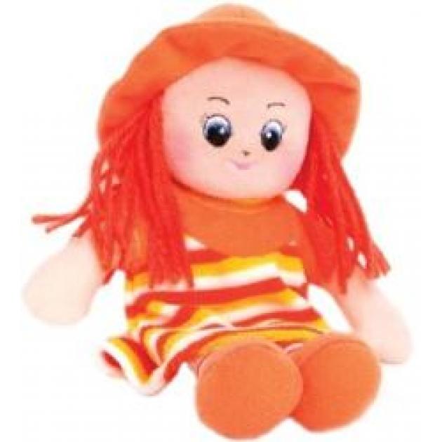Мягкая игрушка малышка в шляпке и оранжевом платье 20 см 30 11bac3510