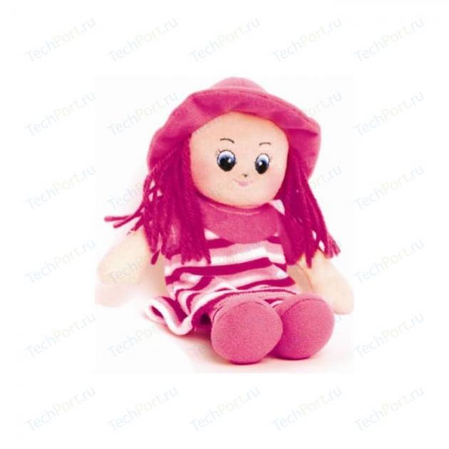Мягкая игрушка малышка в шляпке и розовом платье 20 см 30 11bac3511