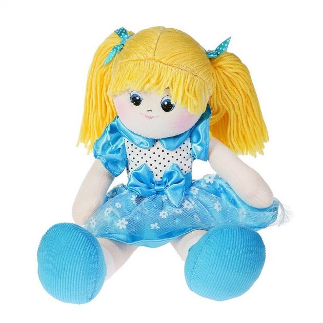Мягкая игрушка кукла голубичка с двумя хвостиками 30 см 30 bac7018