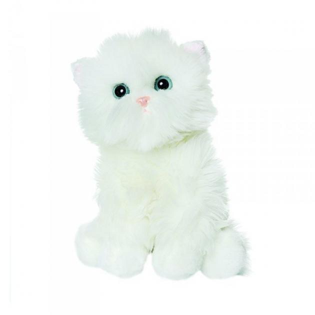 Мягкая игрушка белый котик пушистик 23 см 50 85013w