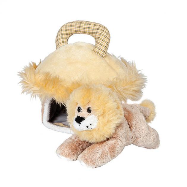 Мягкая игрушка домик сумка со львом 15 см 21 904902 2