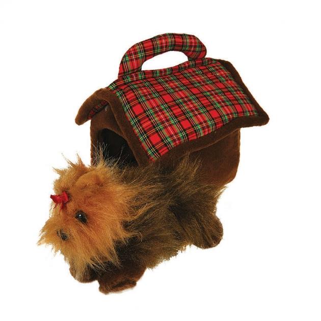 Мягкая игрушка домик сумка с терьером 15 см 21 90650