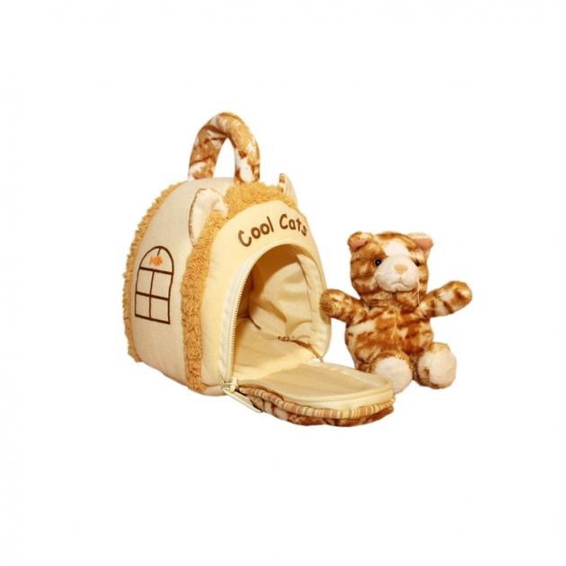 Мягкая игрушка домик сумка с котиком 15 см 21 912050 2