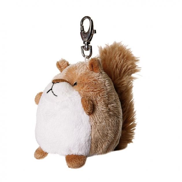 Мягкая игрушка брелок пушистый хвостик белочка 7 см 14 72881g