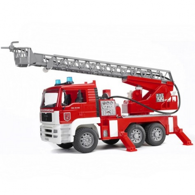 Bruder 02-771 пожарная машина MAN с лестницей и помпой