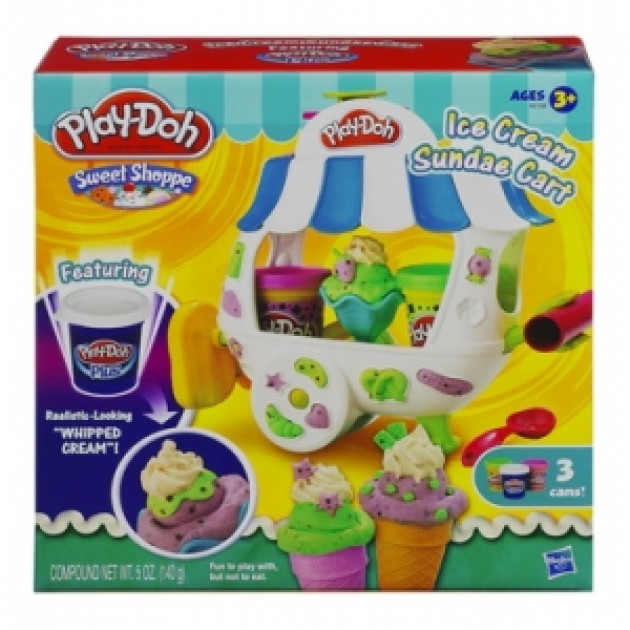 Детский пластилин play doh набор пластилина вагончик мороженого hasbro a2106h