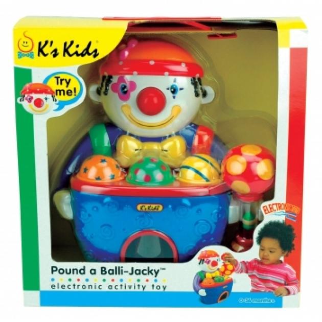 Пластиковый сортер Веселый клоун с мячами K's Kids KA369P