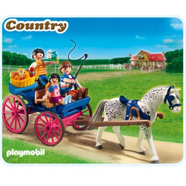 Playmobil серия конный клуб Повозка, запряженная лошадью 5226pm