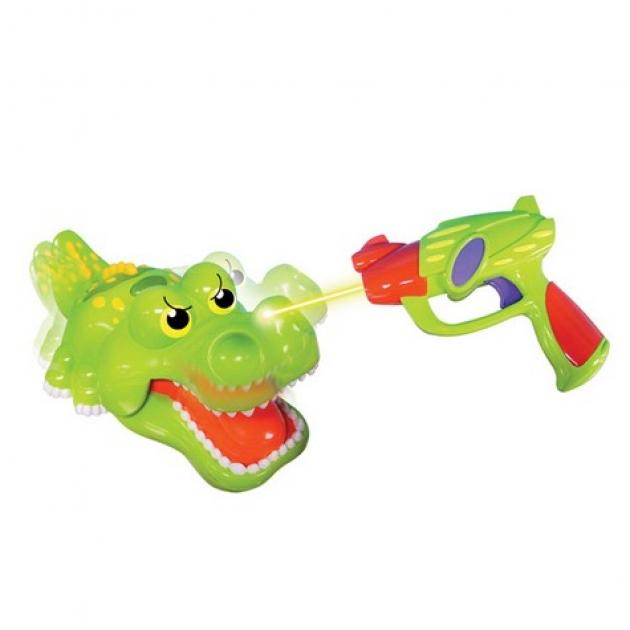 Игрушка для ванной Silverlit Крокодил со световым пистолетом 86691