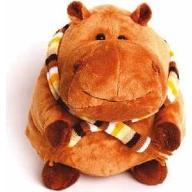 Мягкая игрушка бегемотик в шарфике 25 см 25 12004 25