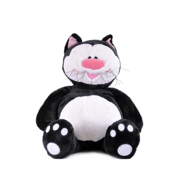 Мягкая игрушка кот котя черный сидячий 23 см 7 42809