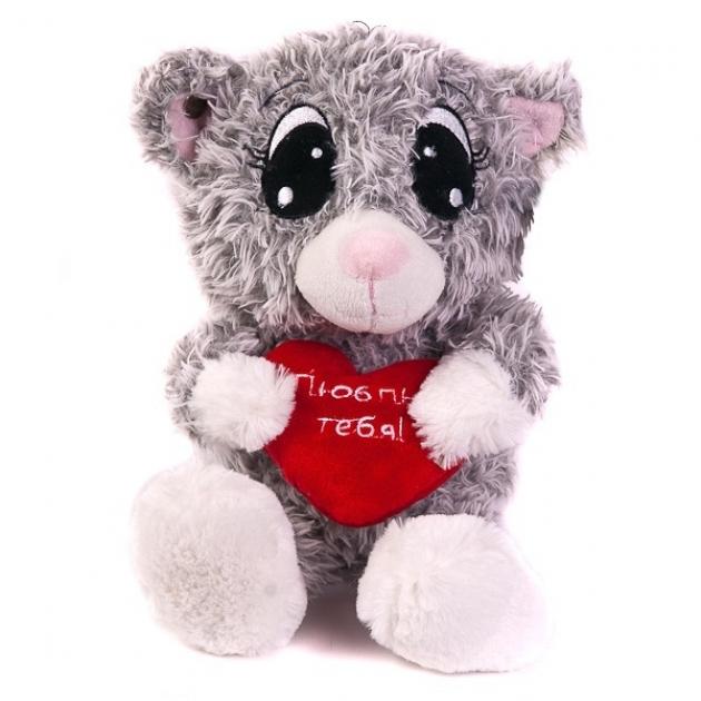 Мягкая игрушка котик влюбленный 20 см 7 52992