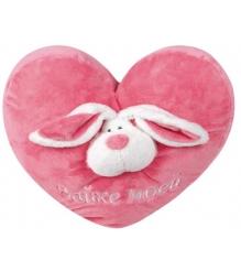 Мягкая игрушка подушка сердечко розовая зайке моей 38 см 7 41215